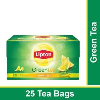 Lipton Lemon Zest Green Tea Bags, 25 Pieces- Amazon