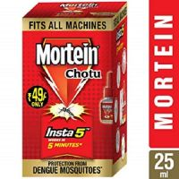 Mortein Insta5 Chotu Vaporizer Refill (25 ml, Red, Pack of 10)- Amazon