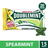 Wrigley's Doublemint, Spearmint Thinmints - 96g - 20 Pieces- Amazon