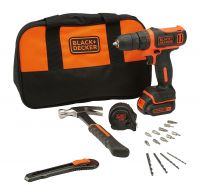 Black and Decker BDCDD12HTSA 10.8V Cordless Drill Kit (Orange,24-Pieces)- Amazon