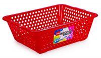 Cello Plastic Kitchen Basket, Jumbo, 62 Liters, Red- Amazon