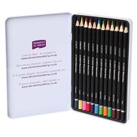 DERWENT Academy Colouring Pencils Tin (Set of 12)- Amazon