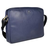 Cross Leather 26 cms Navy Messenger Ba...