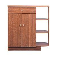 Bharat Lifestyle Hudson Engineered Wood Shoe Rack (Brown, 3 Shelves)- Amazon