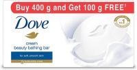 Dove Cream Beauty Bathing Bars(400 g, Pack of 4)- Flipkart