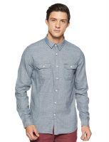[Size M] LEE COPPER Men's Solid Regular Fit Casual Shirt- Amazon