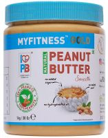MYFITNESS Gold Natural Peanut Butter Smooth 1Kg (Unsweetened)- Amazon