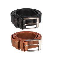 Froggy Men's Combo Of 2 Belt(Tan, Free...
