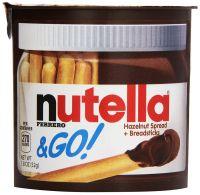 Nutella Ferrero & Go Hazelnut Spread & Malted Bread sticks, 48g - Pack of 2- Amazon
