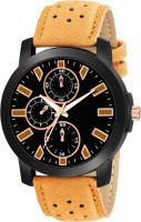 VeBNoR Black dial Brown Leather Strap Analog Watch  - For Boys- Flipkart