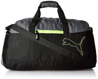 Puma Polyester 25 cms Puma Black Safety Yellow Travel Duffle (7496901)- Amazon