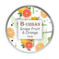 B-URBAN Grape Fruit And Orange Soap Paraben Free Moisturizing Soap Made Of All Natural And Organic Ingredients Best For Sensitive Skin Care 90 g Pack- Amazon