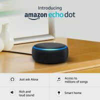 Echo Dot (3rd Gen) – New and improved smart speaker with Alexa (Black)- Amazon