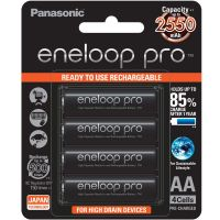 Panasonic Battery Eneloop Pro Upto 2550mAh 4xAA Rechargeable Ni-MH Battery BK-3HCCE/4BN- Amazon