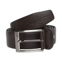 Park Avenue Brown Leather Belt- Amazon