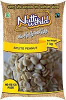 NuttyWorld Roasted Blanched Split Peanuts, 1 kg- Amazon