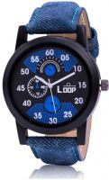 Loop Denim Stylish Analog Watch  - For Men- Flipkart