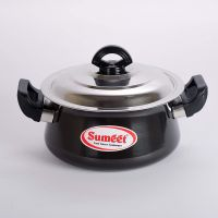 Sumeet 3mm Hard Anodised Handi with (Stainless Steel Lid) (2 Ltrs) - No. 13- Amazon
