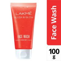 [Pantry] Lakme Blush and Glow Strawberry Gel Face Wash, 100g- Amazon