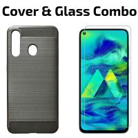 POPIO Tempered Glass & Back Cover Case Combo FOR Samsung Galaxy M40 (Transparent Glass & Cover Combo)- Amazon