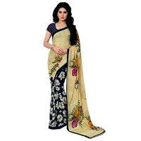 Anand Sarees Georgette Saree with Blouse Piece (2942_Multicoloured_Free size)- Amazon