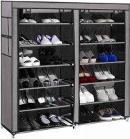 Shopper52 Standard Double Dustproof & Dampproof Shoe Rack Shoe Stand Shoe Cabinet Shoe Organiser Portable Shoe Rack Home & office Shoe Rack - DST2712 Plastic Collapsible Shoe Stand(12 Shelves)- Flipkart
