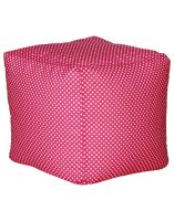 Sattva Polka Party Large Footstool Without Beans (Pink Polka)- Amazon