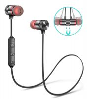 trybhi™ Wireless Earbuds Earphones Bluetooth Headphones, Sport Sweatproof in-Ear Earbuds Magnetic Headset Microphone HiFi Stereo Noise Cancelling Running HD Bass Earpiece iOS Android Gym Workout- Amazon