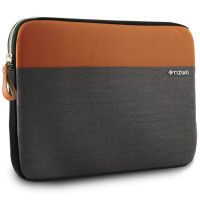 Tizum 14-Inch Laptop Sleeve Trail Folio with External Document Slip Pocket (Tan Brown)- Amazon