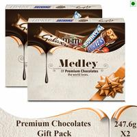 Snickers Medley Assorted Chocolates Rakhi Gift Pack -Pack of 2