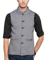 Nick&Jess Mens Grey Nehru Jacket- Amazon