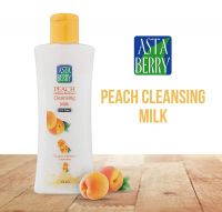 Astaberry Peach Cleansing Milk and Makeup Remover, 100ml- Amazon