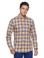 [Size L] Wrangler Men's Checkered Slim Fit Casual Shirt- Amazon