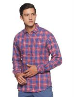 [Size M] Wrangler Men's Checkered Slim Fit Casual Shirt- Amazon